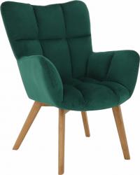 Designové křeslo FONDAR, smaragdová/dub