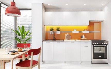 Kuchyňská linka MELVIN 240 cm, bílá mat