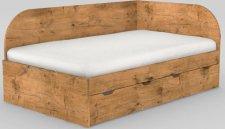 Dětská postel REA GARY 120x200 s úložným prostorem, pravá, LANCELOT