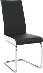 Pohupovací jídelní židle NEANA černá/bílá /chrom