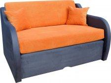 Rozkládací pohovka Zuzana, s úložným prostorem, oranžová