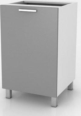 Kuchyňská skříňka Natanya D601D bílý lesk