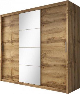 Šatní skříň Niobe 235 dub wotan/zrcadlo