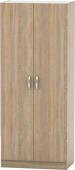 Šatní skříň BETTY 2, 2-dveřová, dub sonoma, BE02-002-00