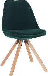 Jídelní židle SABRA, smaragdová Velvet látka/buk