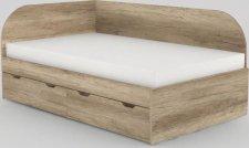 Dětská postel REA GARY 120x200 s úložným prostorem, levá, DUB CANYON