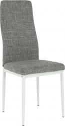 Jídelní židle COLETA NOVA světlešedá látka/bílý kov