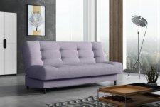 Rozkládací pohovka Living, s úložným prostorem, fialová