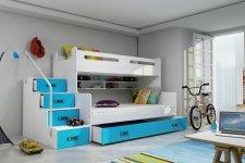 Patrová postel Maty NEW s ÚP bílá/modrá