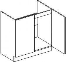 D80ZL dolní skříňka pod dřez PREMIUM hruška
