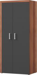 Šatní skříň CHERIS 1 švestka/šedý grafit