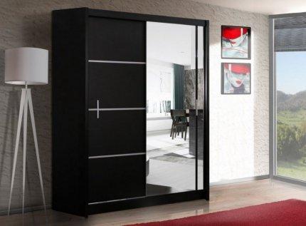 Šatní skříň VISTA 150 černá