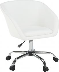Designové kancelářské křeslo LENER, bílá ekokůže/kov