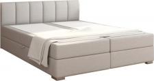 Čalouněná postel RIANA KOMFORT 180x200, s úložným prostorem, světle šedá
