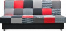 Rozkládací pohovka ZAPPA s úložným prostorem, červená