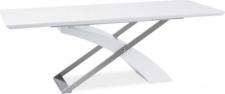 Rozkládací jídelní stůl KROS, bílá lesk