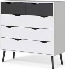 Komoda Retro 456 bílá/černá