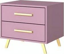 Noční stolek BASILIO 2S fialová