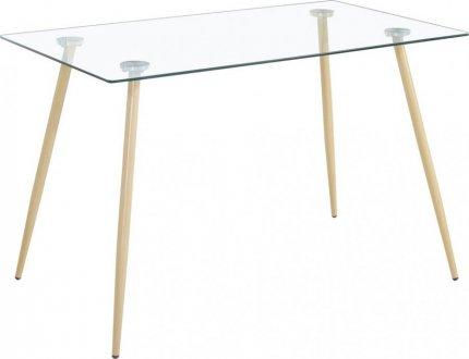 Jídelní stůl GARDA 120x70, sklo/kov