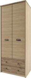 Šatní skříň DIAZ 2D2S, dub madura/wellington