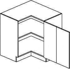 DRPP d. skříňka rohová NORA 90x90 cm hruška