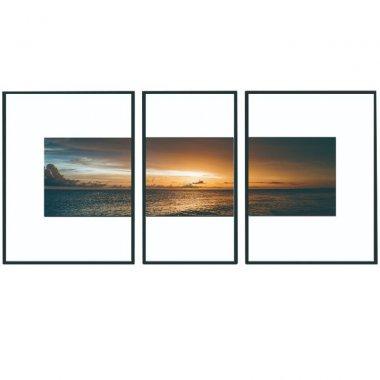 Zasklený tištěný obraz, vícebarevný, DX TYP 13 SUNSET
