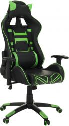 Kancelářské herní křeslo BILGI, černá/zelená