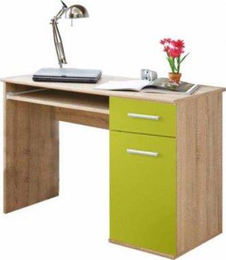 PC stůl, dub sonoma / zelená, EMIO TYP 6