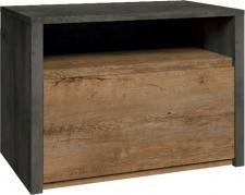 Noční stolek MONTANA SN dub lefkas tmavý/smooth šedý