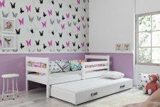 Dětská postel Norbert II 90x200 s přistýlkou, bílá