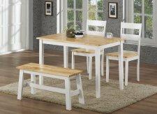 Jídelní stůl VALTICE dub/bílá
