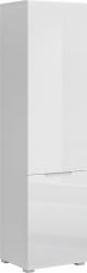 Skříň JOLK 2D, policová, bílá lesk