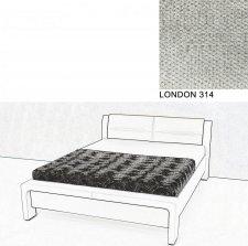 Čalouněná postel AVA CHELLO 160x200, LONDON 314