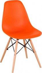 Židle, oranžová / buk, CINKLA 2 NEW
