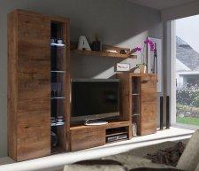 Obývací stěna, sestava RIZO dub lefkas
