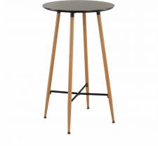 Kulatý barový stůl IMAM, černá/dub
