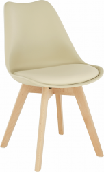 Židle, capuccino vanilková / buk, BALI 2 NEW