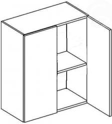 W60 horní skříňka dvojdvéřová MERLIN