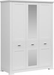 Šatní skříň ARYAN 3D se zrcadlem, bílá