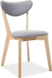 Dřevěná jídelní židle BRANDO šedá/dub