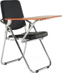 Židle SONER s deskou na psaní, černá/přírodní