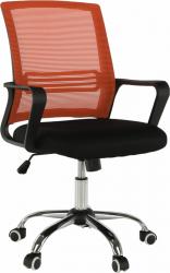 Kancelářská židle APOLO NEW, síťovina oranžová/látka čená