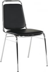 Konferenční židle ZEKI stohovatelná, černá ekokůže