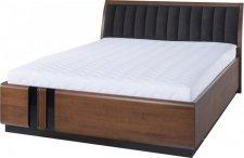 Masivní postel PORTI P-76, 160x200, dub antický/hnědá Carabu 33