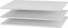 Police do šatní skříně, bílá, 3 ks, GABRIELA