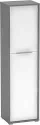 Policová skříň RIOMA TYP 08, grafit/bílá