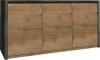 Skříňka MONTANA K3D, dub lefkas tmavý/smooth šedý