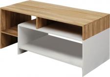 Konferenční stolek ALICANTE, dub grandson/bílá
