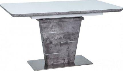 Jídelní stůl ILARIO bílý lak/efekt betonu