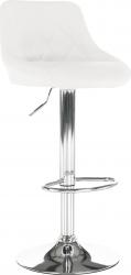 Barová židle MARID, ekokůže bílá/chrom